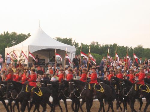 RCMP Musical RideSunset Ceremonies